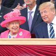 La reine Elisabeth II d'Angleterre et le président des Etats-Unis Donald Trump - Cérémonie à Portsmouth pour le 75ème anniversaire du débarquement en Normandie pendant la Seconde Guerre Mondiale. Le 5 juin 2019