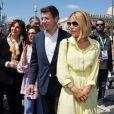 Denise Fabre, Christian Estrosi, le maire de Nice, et sa femme Laura Tenoudji Estrosi durant la première journée du 24ème festival du livre de Nice le 31 mai 2019. © Bruno Bebert/Bestimage