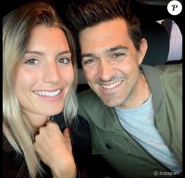 Jean-Pascal Lacoste et sa chérie Delphine Tellier, le 9 juin 2019.