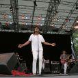 Yannick Noah lors de la célébration de la fête de la musique francophone à Central Park à New York le 21 juin 2009