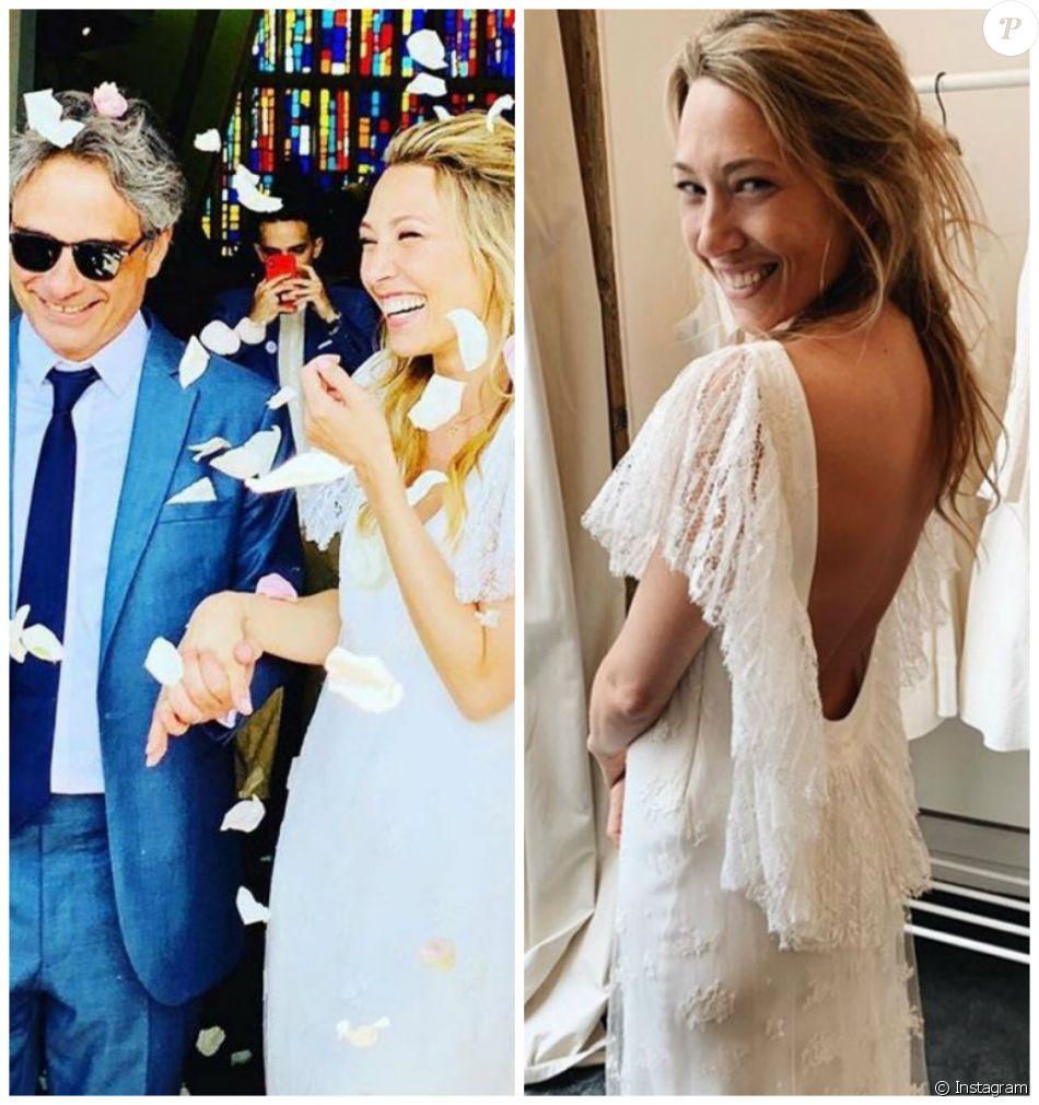 Mariage religieux de Laura Smet et Raphaël Lancrey,Javal célébré au  Cap,Ferret le 15 juin 2019.