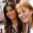 Grand Prix de Silverstone le 21 juin 2009 : Elisabetta Gregoraci et Sarah Ferguson