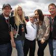 Grand Prix de Silverstone le 21 juin 2009 : Bernie Ecclestone, ses filles et leurs boyfriends