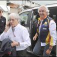 Grand Prix de Silverstone, le 21 juin 2009 : Bernie Ecclestone et Flavio Briatore