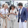 Grand Prix de Silverstone, le 21 juin 2009 : Elisabetta Gregoraci et Tamara Beckwith