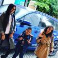 Les enfants du footballeur Franck Ribéry le 4 septembre 2017.