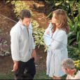 "Jennifer Lopez et Alex O'loughlin sur le tournage de ""The Back-Up Plan"" à Los Angeles"