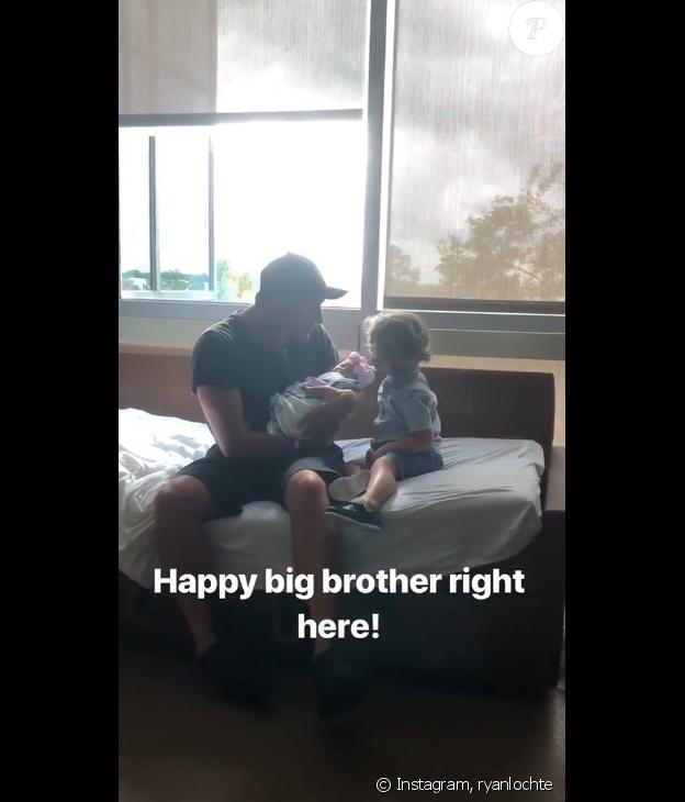 Ryan Lochte et ses enfants sur Instagram.
