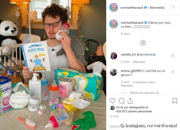 Norman Thavaud sur Instagram le 16 avril 2019.