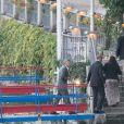 Barack Obama et sa femme Michelle, et George Clooney et sa femme Amal sont allés dîner au restaurant Villa d'Este au Lac de Côme. L'ancien président des Etats-Unis poursuit ses vacances européennes en famille en Italie. Le 23 juin 2019.