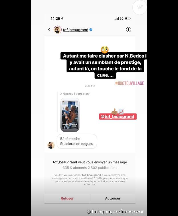 Hugo Philip clashe Christophe Beaugrand sur Instagram, le 25 juin 2019