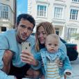 Caroline Receveur, Hugo Philip et Marlon à Londres, le 16 juin 2019