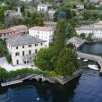 Le couple Clooney reçoit les Obama dans sa villa en Italie - Vue aérienne de la Villa d'Oleandra, appartenant à l'acteur américain George Clooney à Laglio sur le Lac de Côme, Italie, le 2 avril 2017.