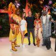 Iris Mittenaere (Miss France et Univers 2016), Arthur (Jacques Essebag) au green carpet du Festival du Roi Lion et de la Jungle à Disneyland Paris. Marne-la-Vallée, le 29 juin 2019. © Christophe Clovis