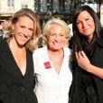 Maître Sabine Cordesse (TF1), Véronique de Villèle et Evelyne Thomas sur la droite au Gala de la fondation IFRAD le 22 juin