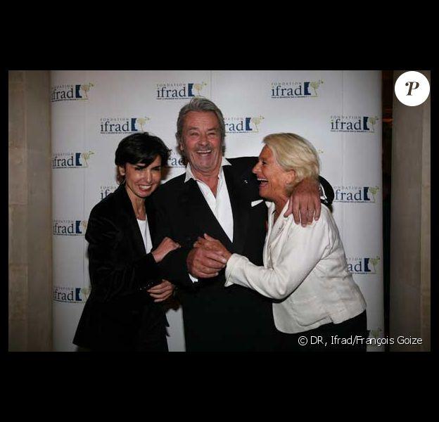 Rachida Dati, Alain Delon et Véronique de Villèle au Gala de la fondation IFRAD le 22 juin