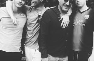 Benjamin Castaldi et ses fils complices : belle photo du