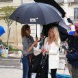 """Aurore Delplace dans les coulisses du tournage de """"Un si grand soleil"""" sur France 2, printemps 2019."""