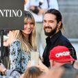 Heidi Klum et Tom Kaulitz arrivent au défilé de mode Valentino, Haute-Couture automne-hiver 2019/2020 à l'hôtel Salomon de Rothschild. Paris le 3 juillet 2019.