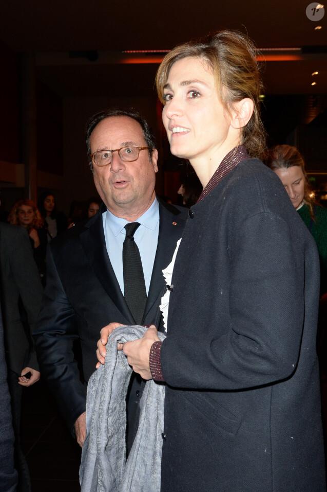 """François Hollande et Julie Gayet - Première du film """"The Ride"""" au MK2 Bibliothèque à Paris. Le 26 janvier 2018 © Coadic Guirec / Bestimage"""