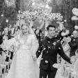 Sophie Tuner et Joe Jonas lors de leur mariage en France, le 29 juin 2019