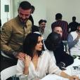 David et Victoria Beckham, Edward Enninful et Kim Jones à la présentation de la marque Kent & Curwen. Londres, le 10 juin 2018.