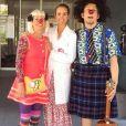 Laeticia Hallyday a passé la journée du 4 juillet 2019 à l'hôpital Armand-Trousseau, à Paris, pour son association La bonne étoile, avec des clowns de l'association Le rire Médecin.