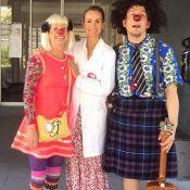 Laeticia Hallyday en blouse blanche pour une journée à l'hôpital
