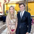 Le prince Amedeo de Belgique et la princesse Elisabetta (Rosboch von Wolkenstein) en septembre 2017 à Marbella pour le mariage de Gabrielle de Nassau.