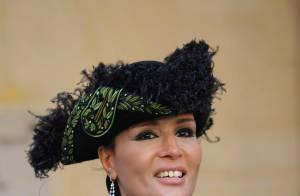 Quand la magnifique première dame du Qatar, en costume officiel avec bicorne... honore de son charme l'Académie !