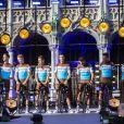 L'équipe AG2R lors de la présentation des équipes du Tour de France 2019 le 4 juillet à Bruxelles.