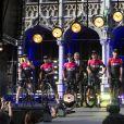 L'équipe Ineos emmenée par Geraint Thomas lors de la présentation des équipes du Tour de France 2019 le 4 juillet à Bruxelles.