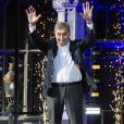 Eddy Merckx, le plus grand champion de l'histoire du cyclisme, honoré sur la Grand Place de Bruxelles, lors de la présentation des équipes lors pour la 106ème édition du Tour de France le 4 juillet 2019.