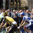 Eddy Merckx, le roi Philippe de Belgique, le Prince Albert de Monaco et le Premier ministre belge Charles Michel étaient réunis le 6 juillet 2019 à Bruxelles pour le départ du 106e Tour de France.