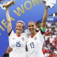 Joie Megan Rapinoe (USA) et Alex Morgan (USA) meilleure buteuse et joueuse trophée Adidas - Finale de la coupe du monde féminine de football, USA vs Pays Bas à Lyon le 7 juillet 2019. Les Etats-Unis ont remporté la finale sur le score de 2 à 0. © Gwendoline Le Goff/Panoramic/Bestimage