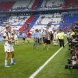 Megan Rapinoe (USA) pose avec ses trophées devant les photographes - Finale de la coupe du monde féminine de football, USA vs Pays Bas à Lyon le 7 juillet 2019. Les Etats-Unis ont remporté la finale sur le score de 2 à 0. © Gwendoline Le Goff/Panoramic/Bestimage