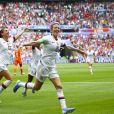 Joie Megan Rapinoe (USA) et Alex Morgan (USA) après pénalty - Finale de la coupe du monde féminine de football, USA vs Pays Bas à Lyon le 7 juillet 2019. Les Etats-Unis ont remporté la finale sur le score de 2 à 0. © Gwendoline Le Goff/Panoramic/Bestimage