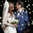 Mariage de Thomas Hollande et de la journaliste Emilie Broussouloux l'église de Meyssac en Corrèze, près de Brive, ville d'Emiie. Le 8 Septembre 2018. © Patrick Bernard-Guillaume Collet / Bestimage