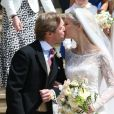 Lady Gabriella Windsor avec Thomas Kingston - Mariage de Lady Gabriella Windsor avec Thomas Kingston dans la chapelle Saint-Georges du château de Windsor le 18 mai 2019.