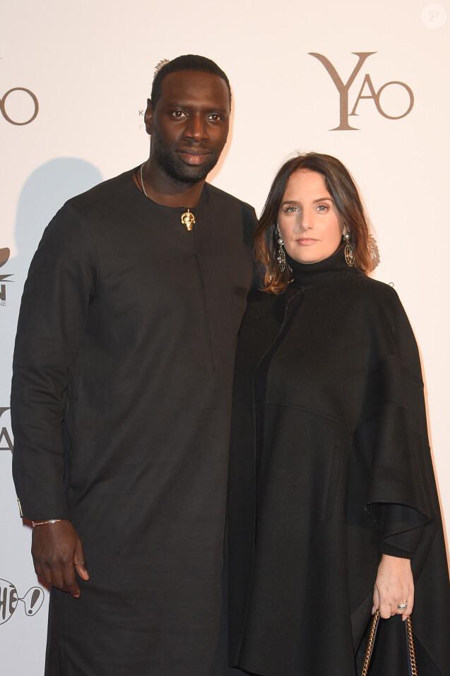 """Omar Sy et sa femme Hélène - Avant-première du film """"Yao"""" au cinéma Le Grand Rex à Paris le 15 janvier 2019. © Coadic Guirec/Bestimage"""