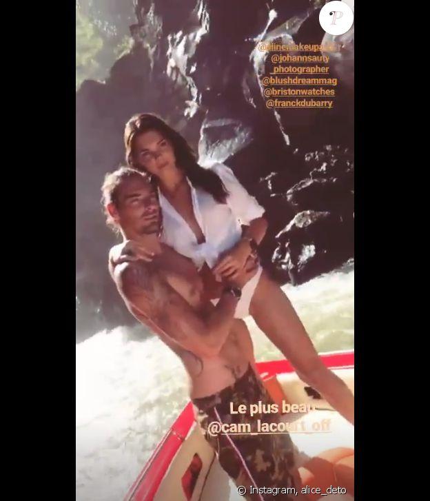 Aloce Detollenaere et son compagnon Camille Lacourt sur Instagram, le 8 juillet 2019.