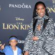 Kelly Rowland et son fils Titan à la première de The Lion King au théâtre Dolby dans le quartier de Hollywood à Los Angeles, le 9 juillet 2019