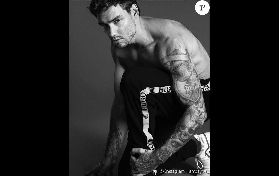 Liam Payne pose torse nu dans une campagne pour Hugo. Instagram, le 1er mai 2019