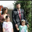 Eva Longoria, Ricardo Chavira et Madison De La Garza sur le tournage de Desperate Housewives, à Burbank. Le 6 avril 2009
