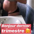"""Cindy, finaliste de """"Koh-Lanta, la guerre des chefs"""" (TF1), dévoile son baby bump le 16 juillet 2019 sur Instagram."""