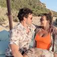 Cindy (Koh-Lanta), enceinte de son premier enfant, et son amoureux Thomas à Ibiza, en juillet 2019 sur Instagram.