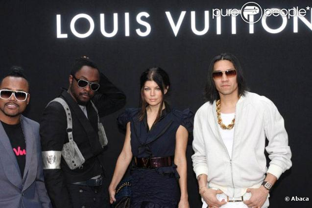 Les Black Eyed Peas au défilé Louis Vuitton, au 104. 25/06/09