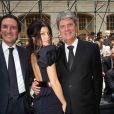 Fergie et Yves Carcelle (PDG de la marque) au défilé Louis Vuitton, au 104. 25/06/09
