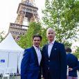 Exclusif - Gautier Capuçon et Franck Riester - Concert de Paris sur le Champ de Mars à l'occasion de la Fête Nationale à Paris le 14 juillet 2019. © Gorassini-Perusseau-Ramsamy/Bestimage