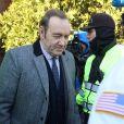 Kevin Spacey quitte le palais de justice à Nantucket, dans le Massachusetts, où l'acteur avait rendez-vous avec un juge qui devait lui signifier son inculpation pour l'agression sexuelle d'un jeune homme de 18 ans en 2016. Nantucket le 7 janvier 2019